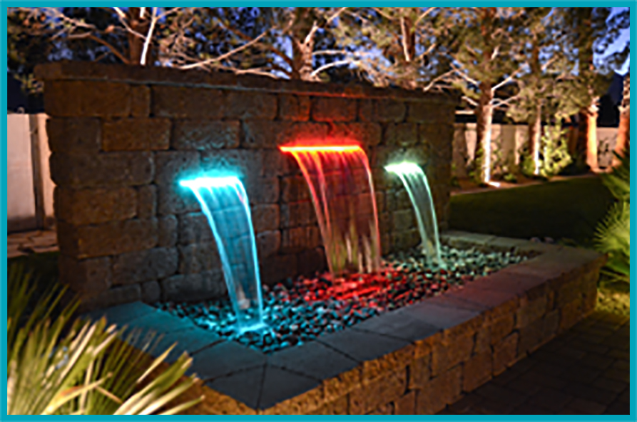 Custom water fountains in Las Vegas