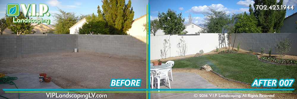 Complete landscape transformation: before and after