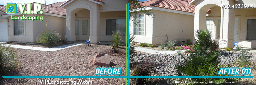 Complete landscape front yard: before and after