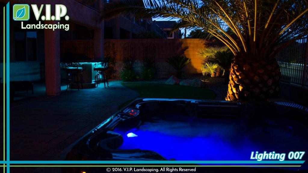Low voltage lighting system installed by V.I.P. Landscaping