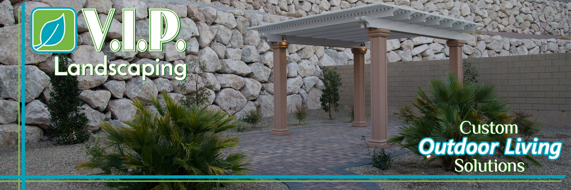 Rock walls, pavers, block walls, decorative rock incorporated in desert landscape designs